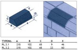 Ketley Class A Blue Plinth Stretcher Brick